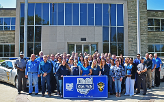 Ohio Turnpike employees in Berea support Light Ohio Blue