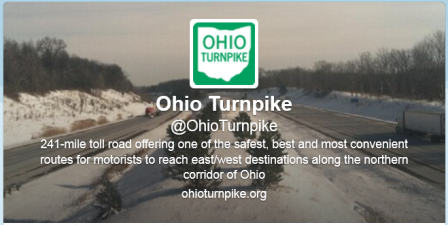 Ohio Turnpike Twitter Home Page image